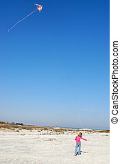 Girl Flying Kite