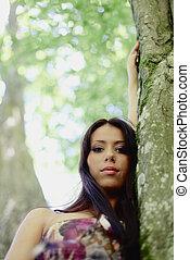 girl, forêt