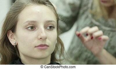 Girl for a hairdresser