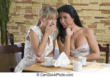 girl friends chatting