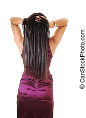 Girl from the back.