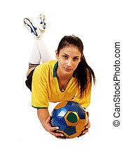 girl., futball