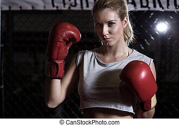 girl, gants boxe