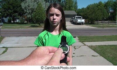 Girl Gets Watch & Money & Leaves on Bike
