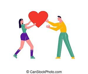 Girl giving her heart