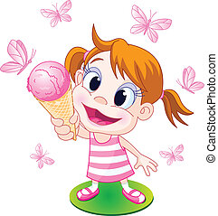 girl, glace