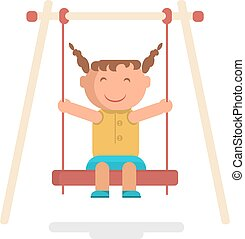 girl go for a drive on swing