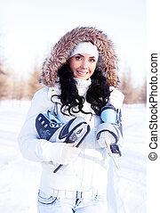 girl going to ice skate