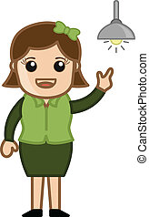 Girl Got an Idea - Bulb Concept