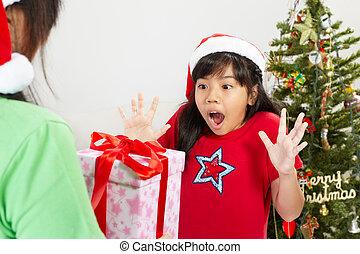 Girl got Christmas ppresent