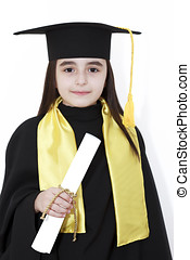 Girl graduation with diploma