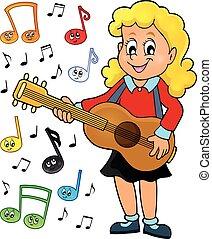 Girl guitar player theme image 2