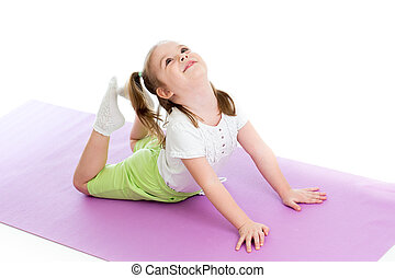 girl, gymnastique, jeune
