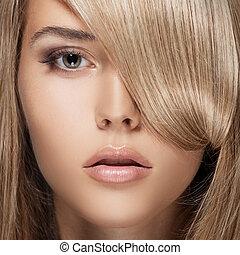 girl., hair., biondo, sano, lungo, bello