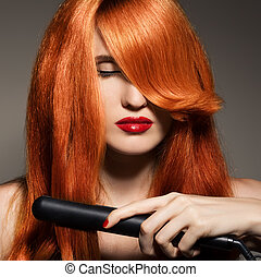girl., hair., sain, long, beau