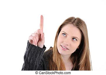 girl, haut, pointage