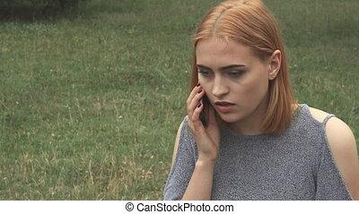Girl having a hadache after phonetalk