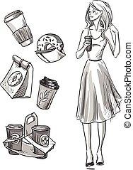 Girl having a snack.