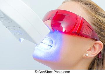 girl having dental xray