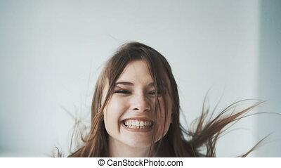 Girl Having Great Fun