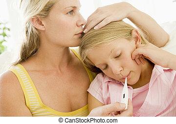 Girl Having Her Temperature Measured