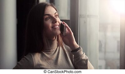 Girl Having Phone Talk