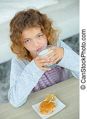 girl having snack