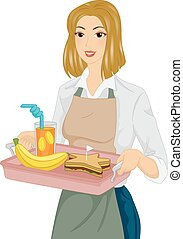 Girl Healthy Meal Kids Tray