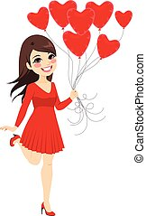 Girl Heart Balloons
