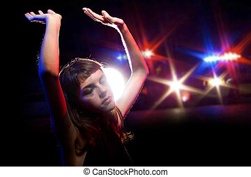 Girl High on Drugs Being Arrested - young drug intoxicated...