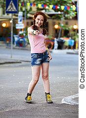 girl, hipster, rue.