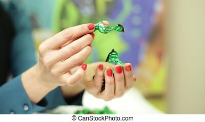 Girl Holding A Candy
