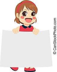 Girl Holding Banner