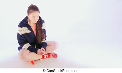 Girl Holding Pregnancy Test