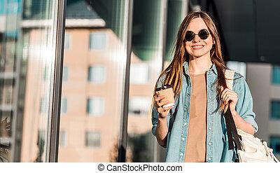 Girl Holds Coffee