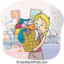 Girl House Chores