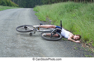 Girl hurt crashing bicycle accident