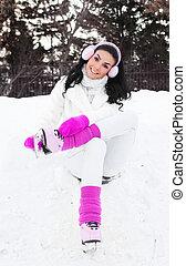 girl ice skating