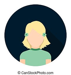 Girl icon cartoon. Single avatar,peaople icon from the big avatar set.