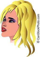 Girl - viso donna vettoriale