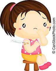 girl, immunisation