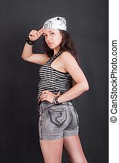 girl in a bandana