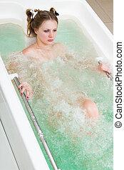 girl in a bathtub