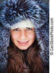 Girl in a cap