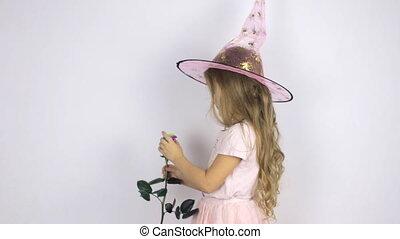 Girl in a carnival hat