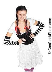 girl in a dirndl costume