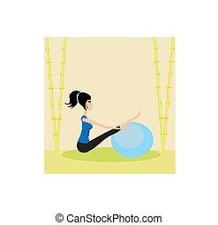 girl in a pilates studio