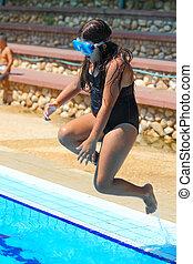 girl in a pool