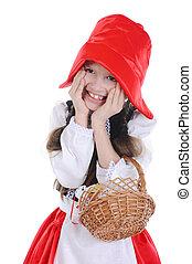 Girl in a red cap.