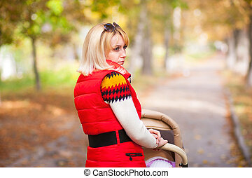 girl in a red jacket